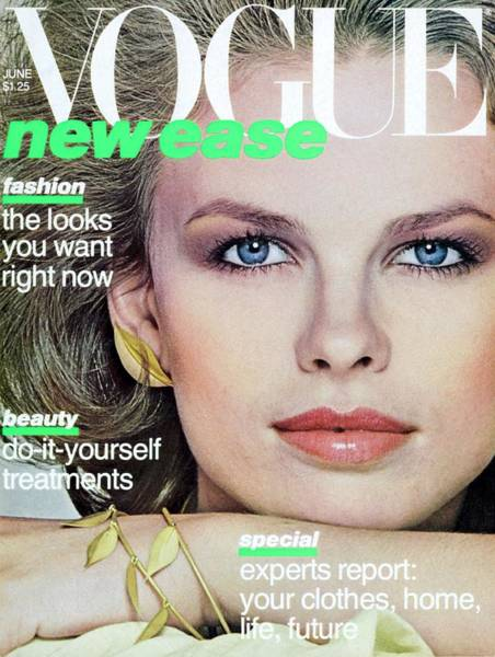 Eyeliner Wall Art - Photograph - Vogue Cover Featuring Lisa Taylor by Albert Watson