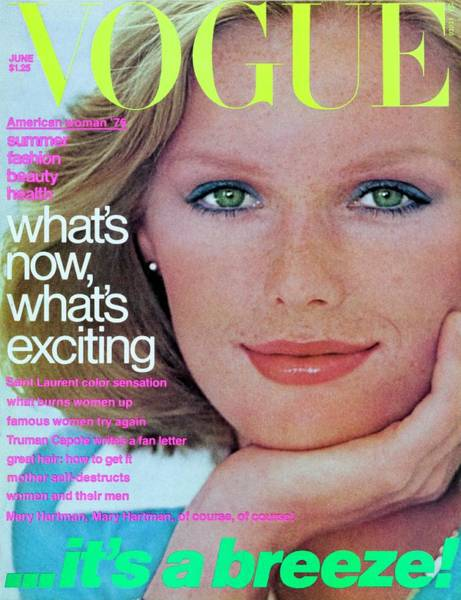 Eyeliner Wall Art - Photograph - Vogue Cover Featuring Patti Hansen by Francesco Scavullo