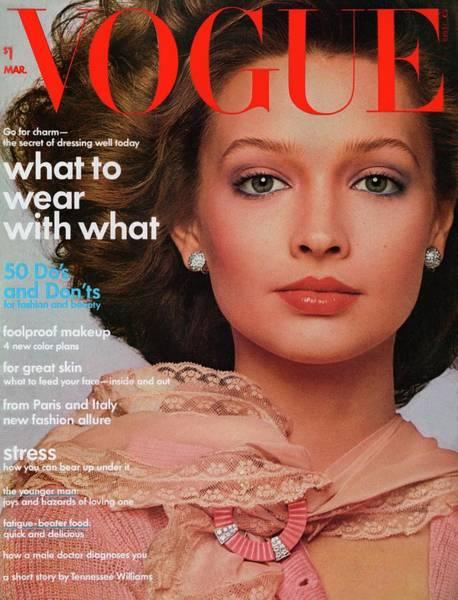 Wall Art - Photograph - Vogue Cover Featuring Paula Klimak by Francesco Scavullo