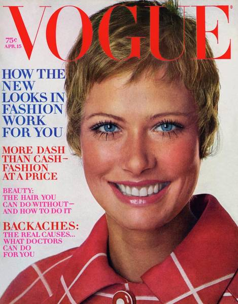 Red Coat Photograph - Vogue Cover Featuring Susan Schoenberg by Arnaud de Rosnay