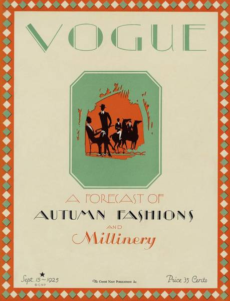 Silhouette Photograph - Vogue Cover Featuring The Silhouettes Of A Group by Herbert Libiszewski