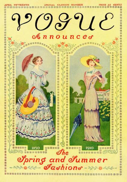 Front Yard Photograph - Vogue Cover Featuring Two Nineteenth Century by Helen Dryden