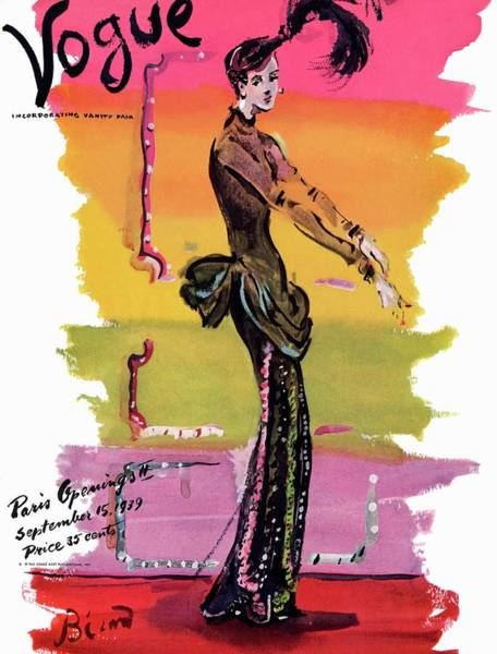 Glamour Photograph - Vogue Cover Illustration by Christian Berard