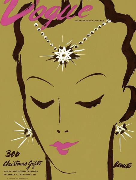 Photograph - Vogue Cover Illustration Of A Woman Wearing Star by Eduardo Garcia Benito
