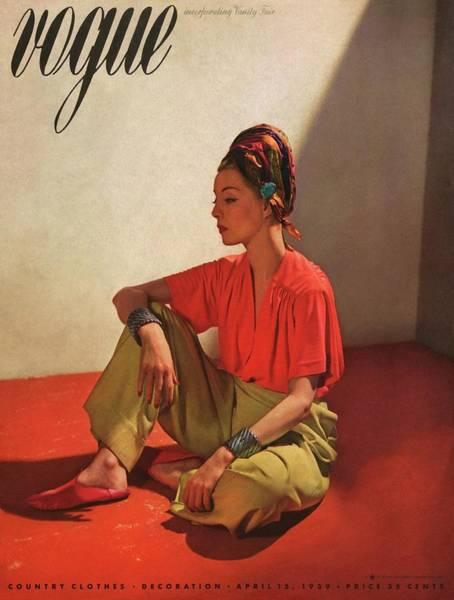 Shoe Photograph - Vogue Cover Illustration Of Model Helen Bennett by Horst P. Horst