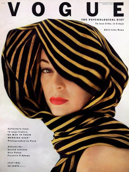 Make Up Photograph - Vogue Cover Of Jean Patchett by Clifford Coffin
