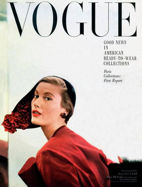 Stripe Photograph - Vogue Cover Of Mary Jane Russell by Frances Mclaughlin-Gill