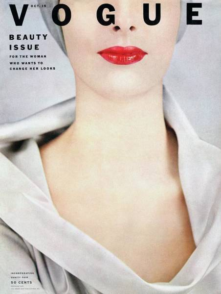 Make Up Photograph - Vogue Cover Of Victoria Von Hagen by Erwin Blumenfeld