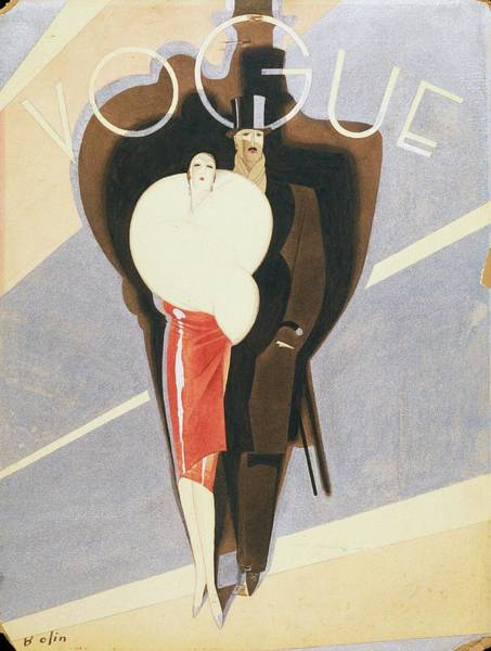 Footwear Digital Art - Vogue Magazine Cover Featuring A Couple Dressed by William Bolin