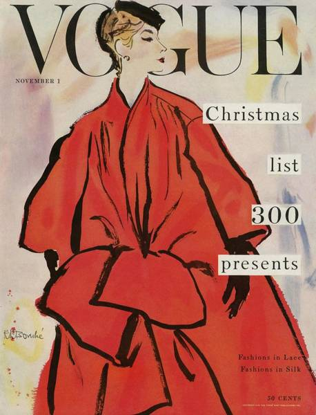 November 1st Photograph - Vogue Magazine Cover Featuring A Woman In A Large by Rene R. Bouche