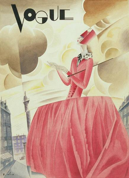 Digital Art - Vogue Magazine Cover Featuring A Woman In A Pink by William Bolin