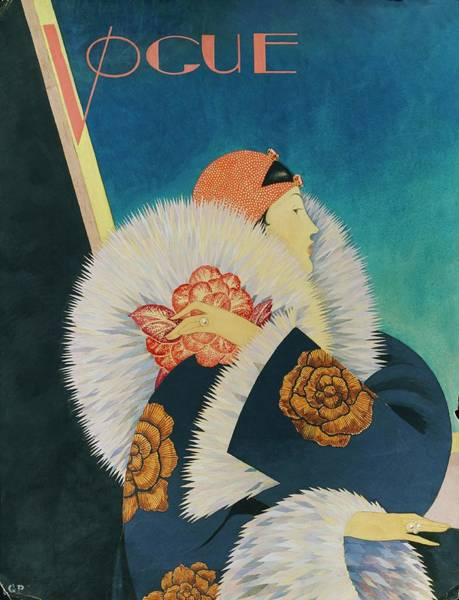 Vogue Magazine Cover Featuring A Woman Wearing Art Print