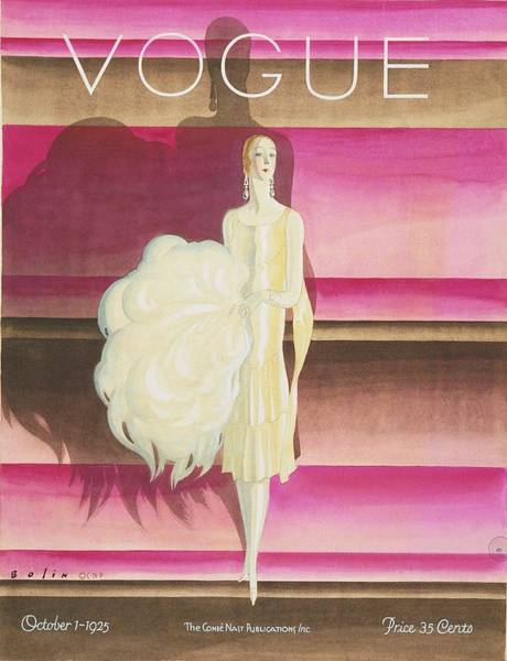Footwear Digital Art - Vogue Magazine Cover Featuring A Woman Wearing by William Bolin