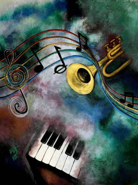 Clarion Wall Art - Painting - Voice Of The Trumpet by Pamorama Jones