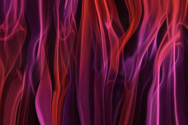 Abstract Smoke Photograph - Volatile Curtains by Heidi Westum