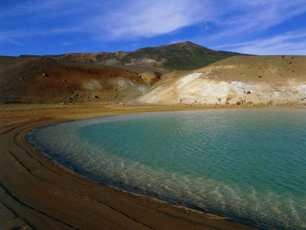 Volcanic Craters Photograph - Volcanic Crater And Hot Lake by Simon Fraser/science Photo Library