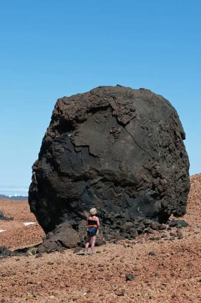 Active Volcano Photograph - Volcanic 'egg' by Dr. John Brackenbury/science Photo Library