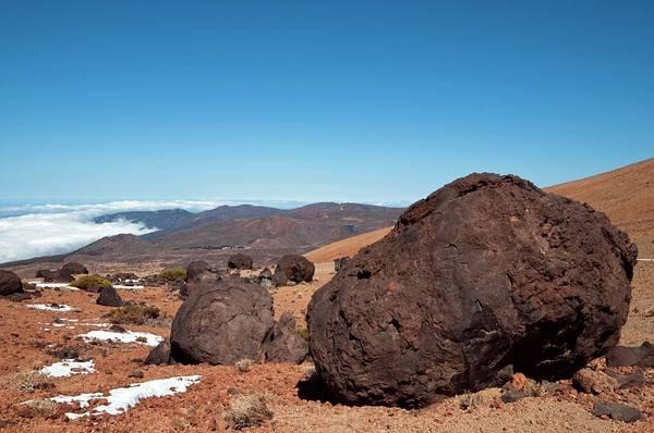 Active Volcano Photograph - Volcanic 'eggs' by Dr. John Brackenbury/science Photo Library
