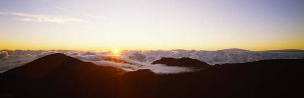 Haleakala Crater Photograph - Volcanic Landscape Covered With Clouds by Panoramic Images