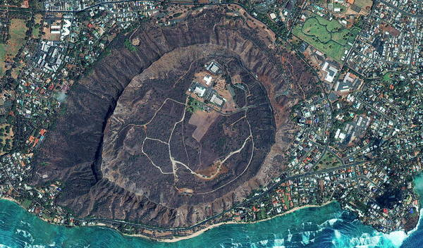 Volcanic Craters Photograph - Volcanic Structure by Geoeye/science Photo Library