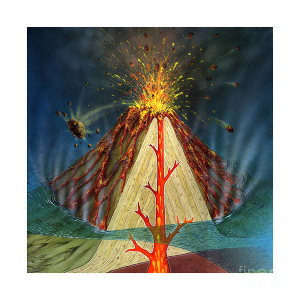 Photograph - Volcano Diagram by Carlyn Iverson