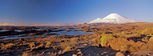 Wall Art - Photograph - Volcano Parinacota And Pomerape by Martin Zwick