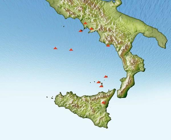 Volcanoes In Italy Art Print