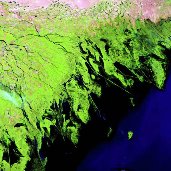 Wall Art - Photograph - Volga Delta by Nasa/science Photo Library