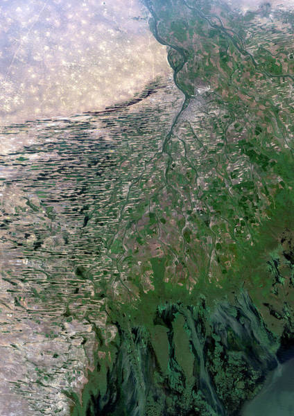 River Delta Photograph - Volga Delta by Planetobserver/science Photo Library