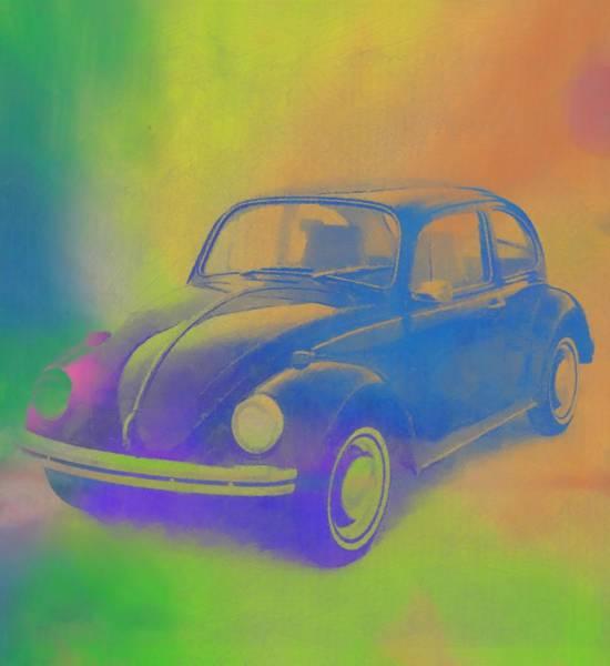 Super Car Mixed Media - Volkswagen Beetle Pop Art by Dan Sproul