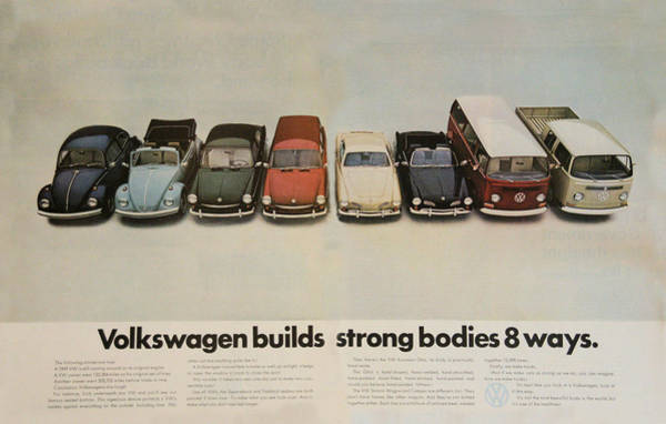 Wagon Digital Art - Volkswagen Builds Strong Bodies 8 Ways by Georgia Fowler