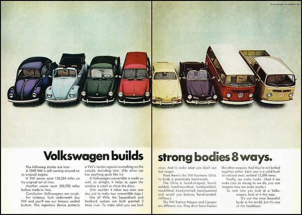 Pick Up Truck Digital Art - Volkswagen Builds Strong Bodies In 8 Ways by Georgia Fowler