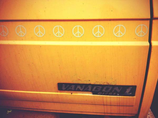 Photograph - Volkswagen Peace Van - Vanagon IIi by Paulette B Wright