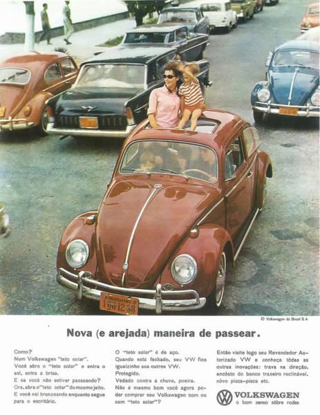 Wall Art - Digital Art - Volkswagen Type 1 1965 Brazil by Georgia Fowler