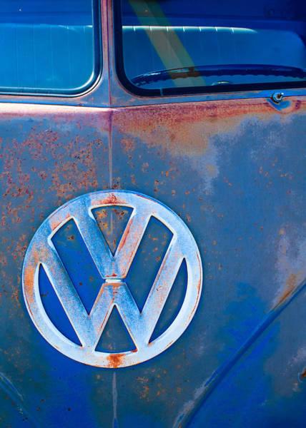 Photograph - Volkswagen Vw Bus Emblem by Jill Reger