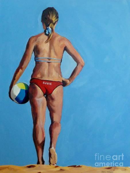 Volley Painting - Volley Ball Anyone? by Terence R Rogers