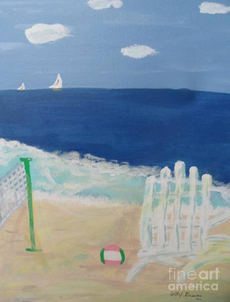 Volley Painting - Volley Ball On The Beach by Bobbi Groves
