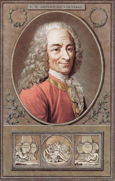 Francois Marie Arouet Photograph - Voltaire by Martin J. Gross Collection/new York Public Library