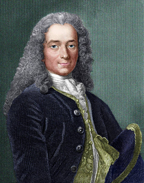 Francois Marie Arouet Photograph - Voltaire by Sheila Terry/science Photo Library