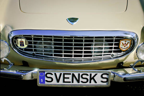 Photograph - Volvo Grille Emblem -0198c by Jill Reger