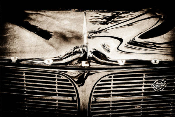 Photograph - Volvo Grille Emblem -0203s by Jill Reger