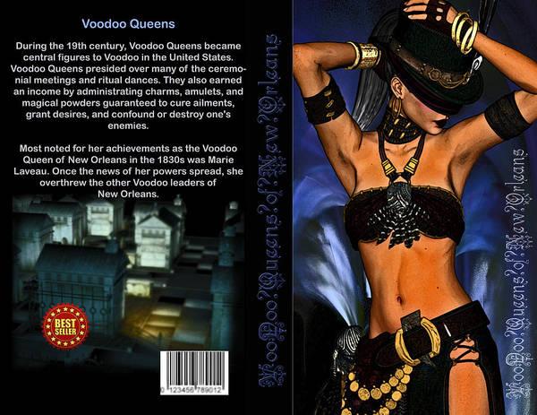 Voodoo Digital Art - Voo Doo Queens by Jean Gugliuzza