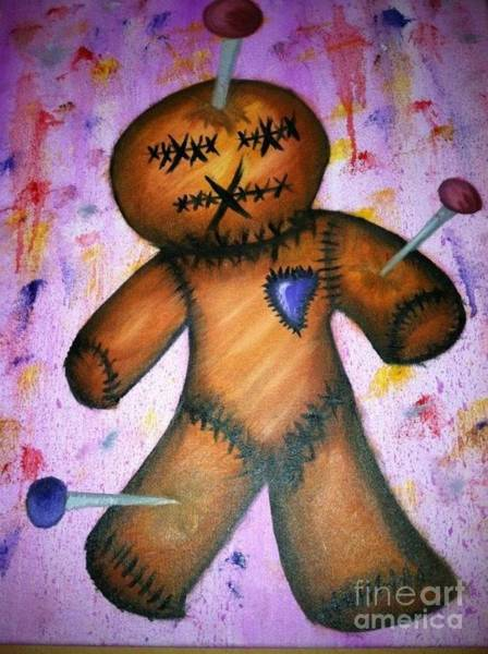 Voodoo Doll Painting - Voodoo by Ashly Rouse