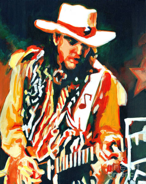 Painting - Voodoo Chile - Stevie Ray Vaughn by Tanya Filichkin