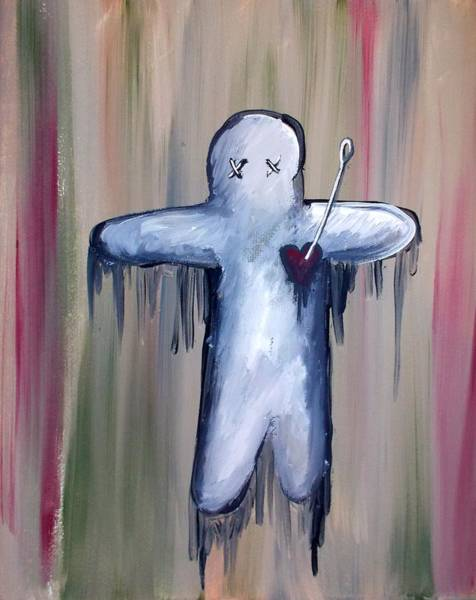 Voodoo Doll Painting - Voodoo Doll by Marisela Mungia