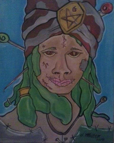 Voodoo Doll Painting - Voodoo Priestess by Damon Milton