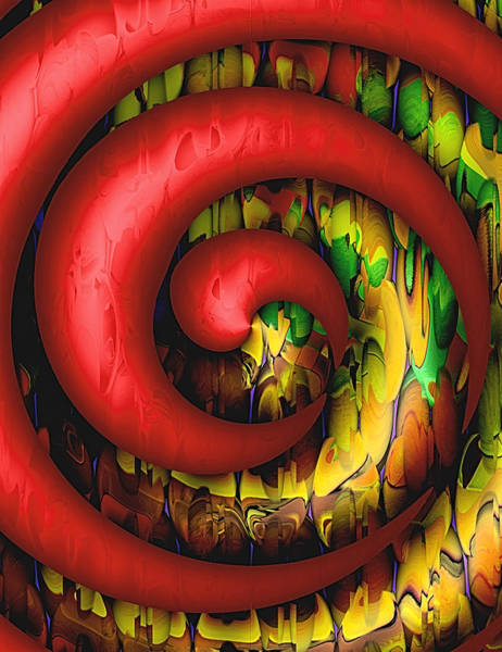 Voodoo Digital Art - Voodoo Red by Wendy J St Christopher
