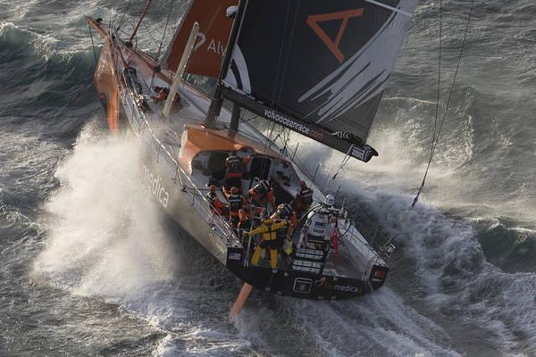 Racing Yacht Photograph - Vor 2014-15 - Team Alvimedica 3 by Gilles Martin-Raget