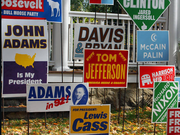 Photograph - Vote For Tom Jefferson by Rick Locke