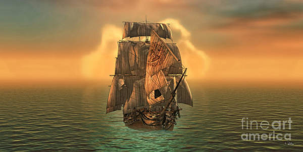 Voyage Digital Art - The Voyage Of The Dawn Treader by Mo T